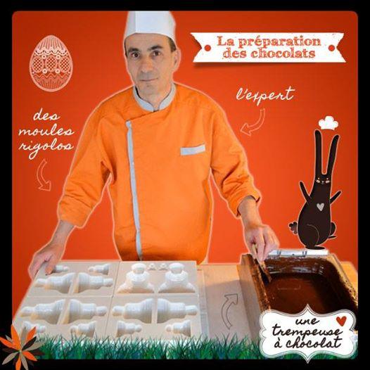 La fabrication des chocolats de Pâques