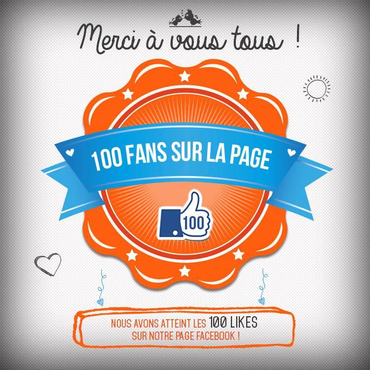 100 fans sur notre page Facebook