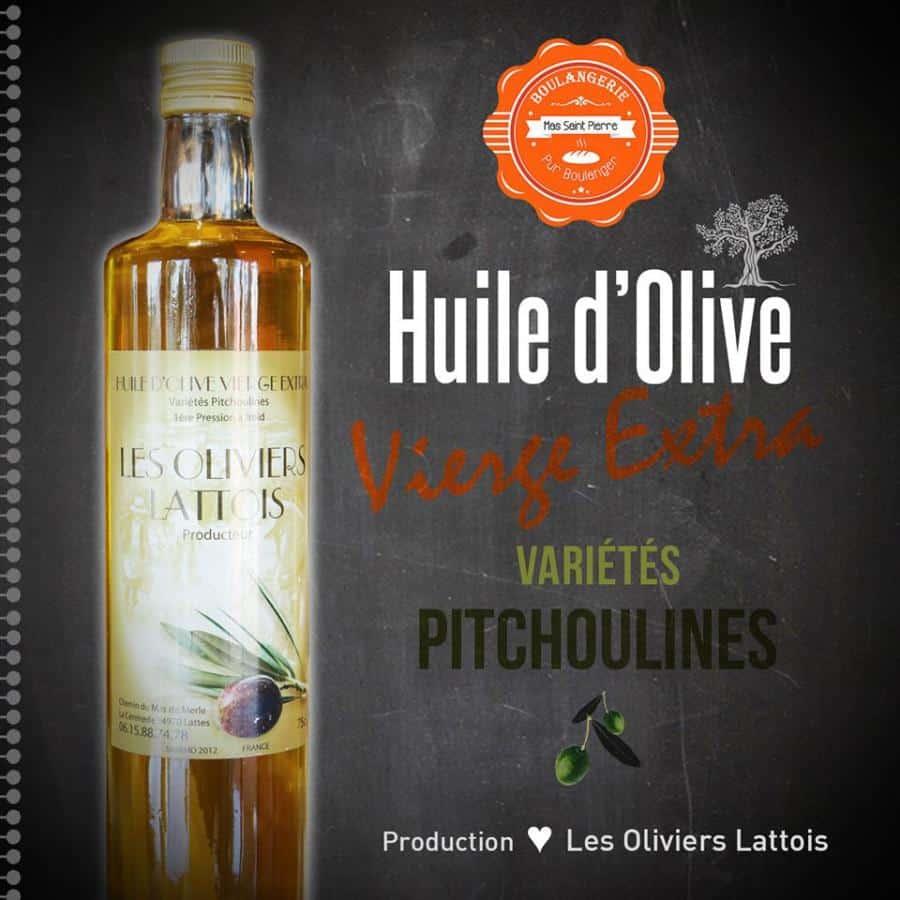 Les Huiles d'Olive de notre producteur local Les Oliviers Lattois