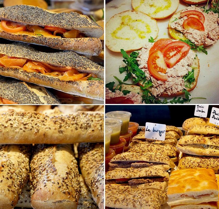 Un aperçu de nos nombreux sandwichs