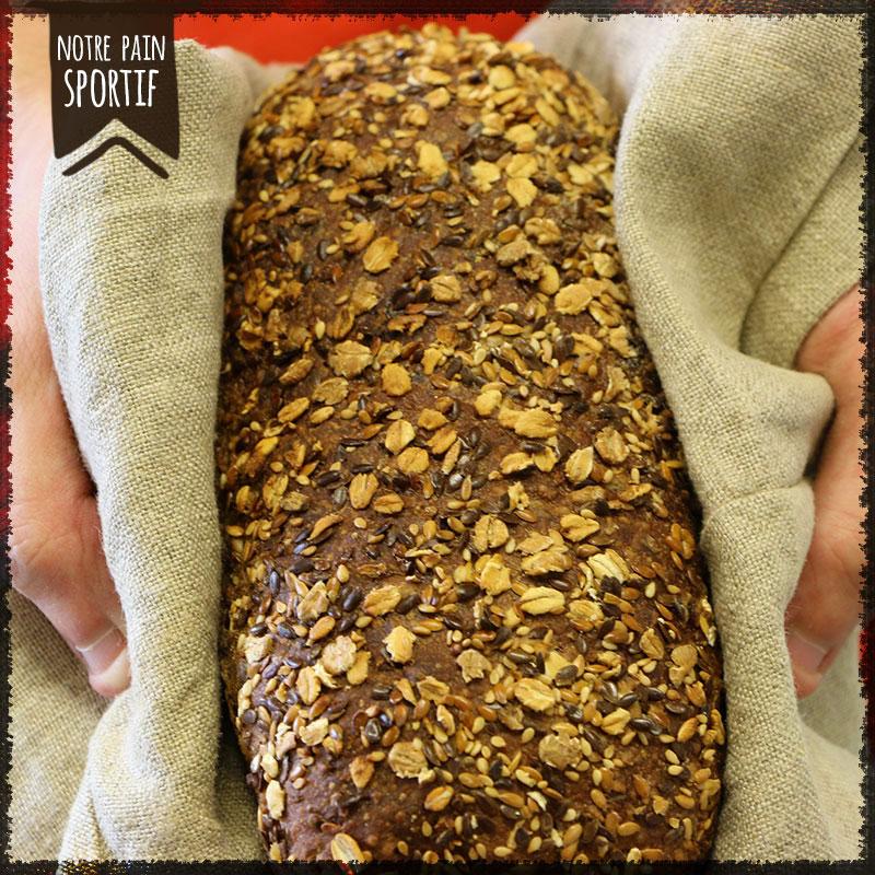Avec notre pain sportif, faites-vous plaisir à tous les repas !