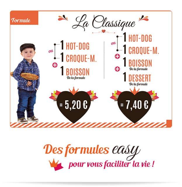 Notre formule easy La Classique