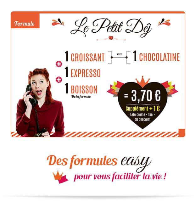 Notre formule easy Petit Déj