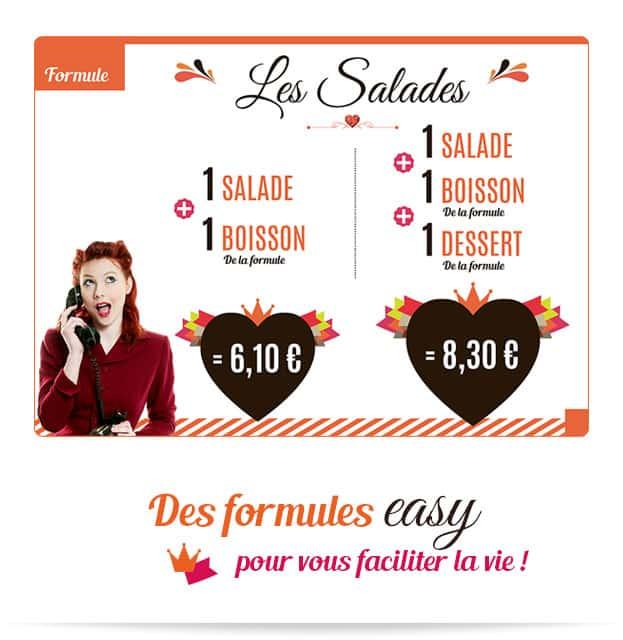 Notre formule easy Les Salades