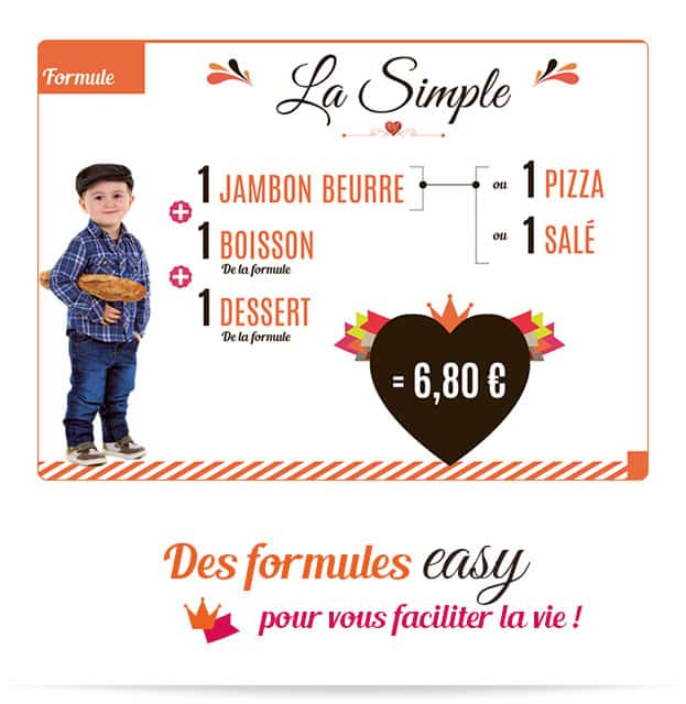 Notre formule easy La Simple