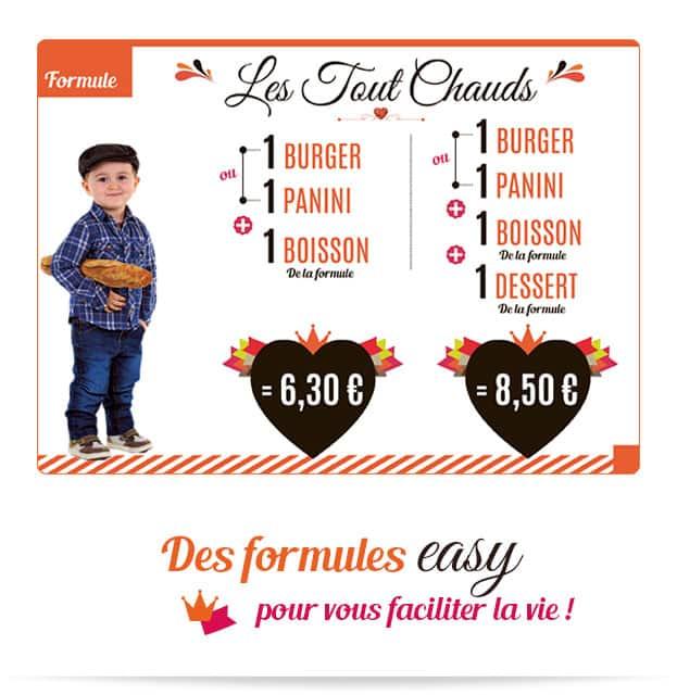 Notre formule easy Les Tout Chauds