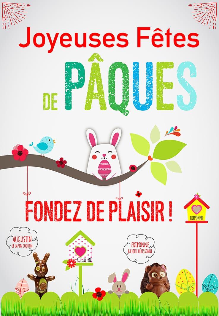Fondez de plaisir avec nos chocolats de Pâques !