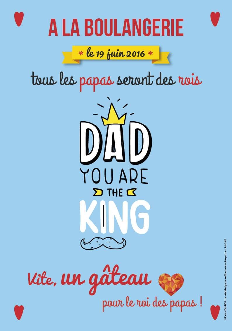 C'est qui le roi des papas ? Mon papa que j'aime !