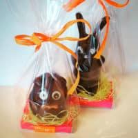 Hérisson et lapin en chocolat