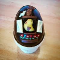 L'œuf maisonnette en chocolat
